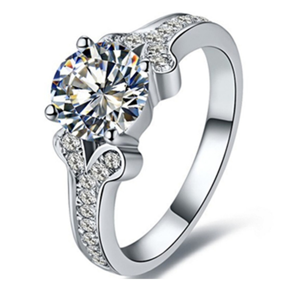 Real Gold Genuine Brand Jewelry 2carat Moissanite Diamond
