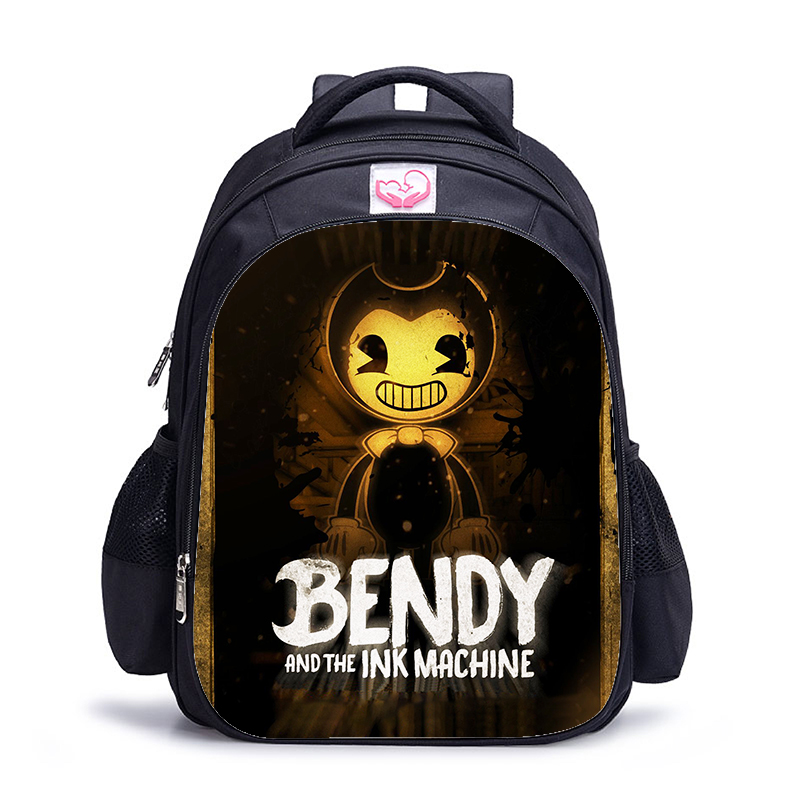 16 Inch Bendy And The Ink Machine Backpack For Children School Bags Cartoon Game Book Backpack Daily School Backpack Gift16 Inch Bendy And The Ink Machine Backpack For Children School Bags Cartoon Game Book Backpack Daily School Backpack Gift