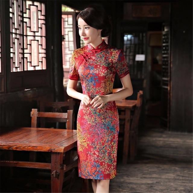 Shanghai Geschichte Kurzarm nationalen trend kleid chinesischen stil ...