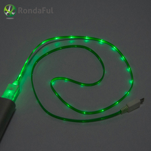 Fashion LED Micro USB Cable 4 Colors Beautiful Light Durable Microusb Charger Data Sync ine For Samsung xiaomi HTC Android Phone
