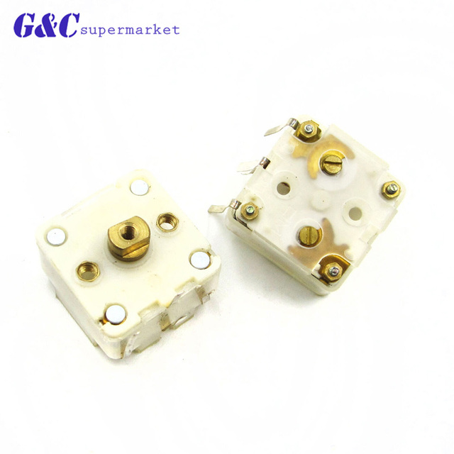2 Pcs Stile 223F Dual 20pF Condensatore Variabile per la Radio FM