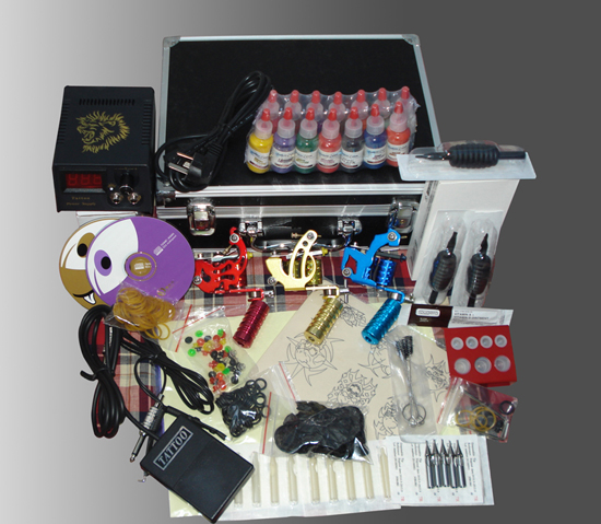 Us 1552 33 Offpermanent Makeup Machine Kit Professional Tattoo Machine Set Piercing Tool Kit Completed 3 Guns Set In Tattoo Kits From Beauty