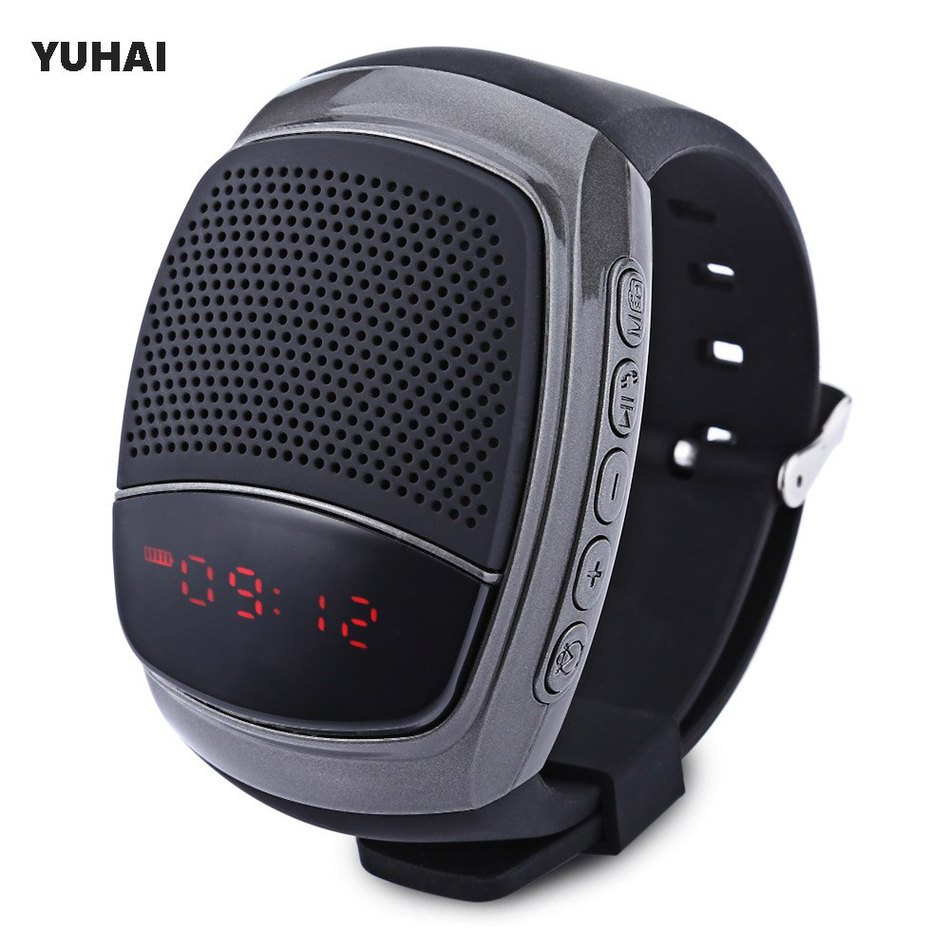 YUHAI B90 Bluetooth 4.0 Sport Music Watch Speaker Support TF Card Hands-free Cal