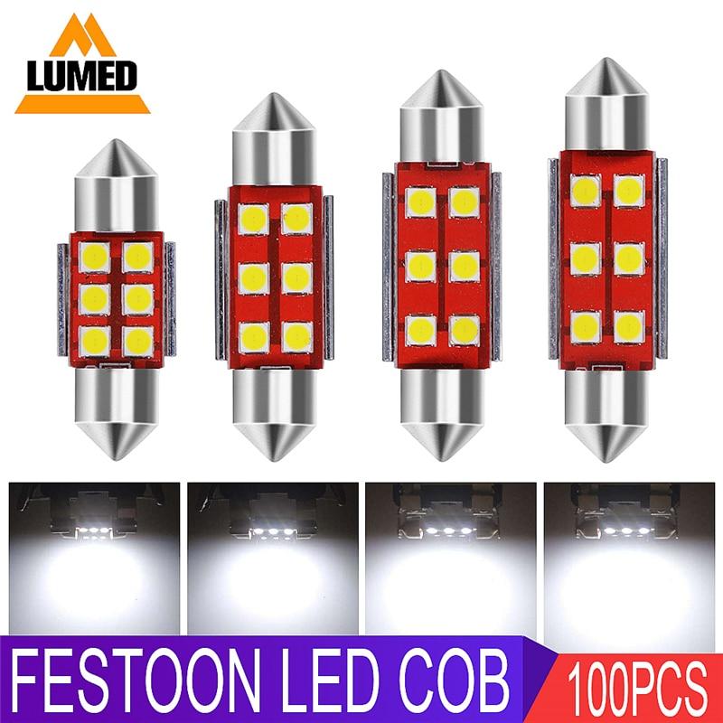 100x Festoon Auto Products Car LED C5W 3030 Car Interior Dome Lamp Reading Light 31 36