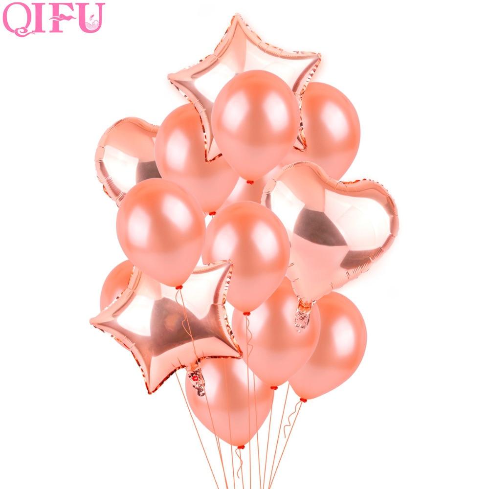 QIFU օդային փուչիկներով վարդի ոսկե - Տոնական պարագաներ