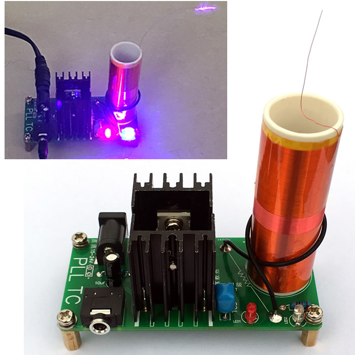US $16 28 8% OFF|Mini Music Tesla Coil Plasma Horn Science Experiment  Technology Electronic DIY Small Production Invention-in Air Conditioner  Parts