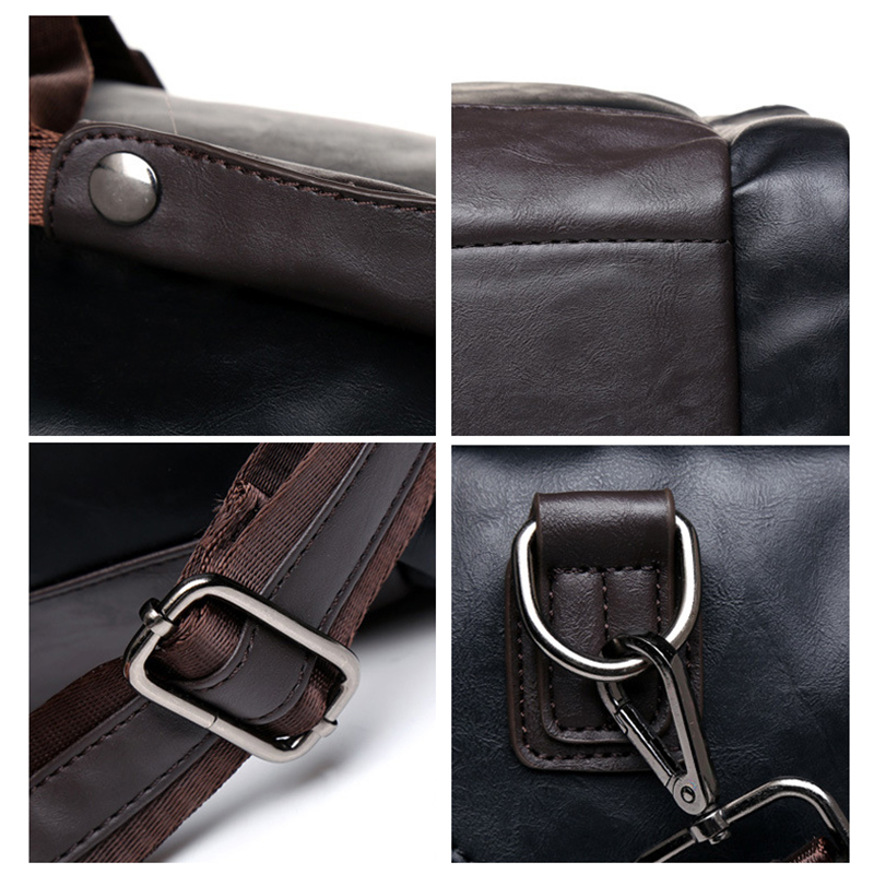 MAGIC UNION New Men's Leather Travel Bags Handbags for Men Shoulder Bags Large-Capacity Big Bag Travel Tote for Business Trip 5