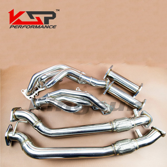 Kingsun Performance Long Tube Exhaust Header Manifold H Pipe For - Acura tl headers