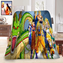 カスタムドラゴンボールzアニメ毛布 & 2ソフト装飾寝室58 × 80インチ、50X60inch、40X50inch t #829 & EV102
