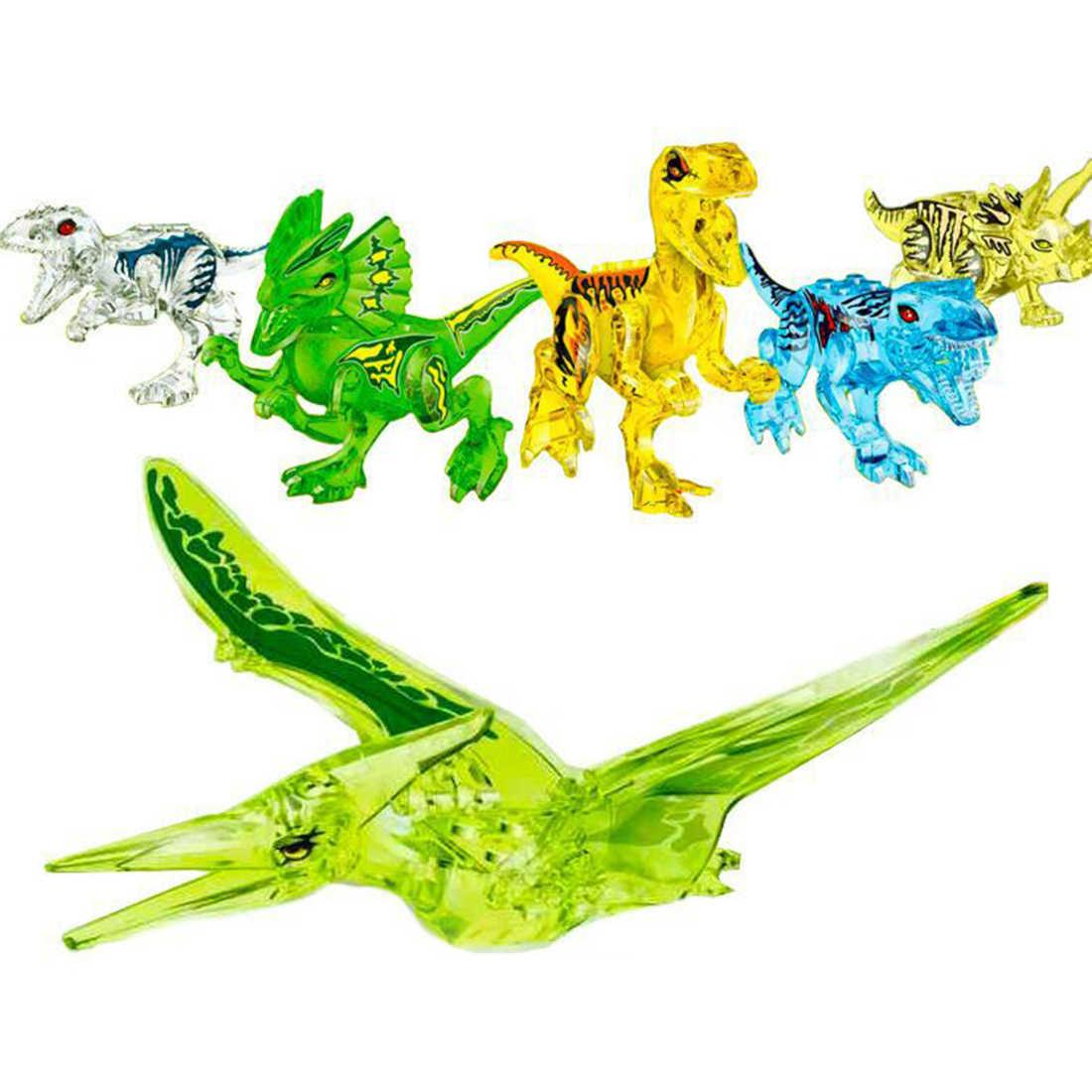 6Pcs Pequeno modelo Animal Figuras Brinquedos do Miúdo Brinquedos Educativos DIY Edição Dinossauro Brinquedos para Crianças Presente de Natal Nova