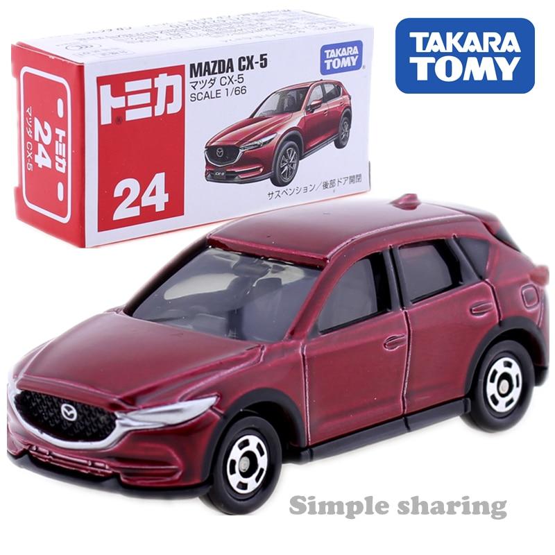 Takara Tomy TOMICA No. 24 Mazda CX-5  Suv Sport Utility Car Toy 1:66 Diecast Miniature Kids Toys Model Kit Funny Baby Dolls