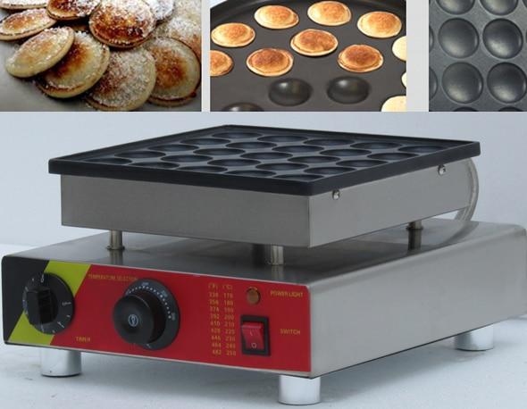 25pcs Electric Mini Poffertjes Grill Machine;waffle machine;Dutch Poffertjes Pancakes Maker Machine Baker Plate 2017 electric 110v 220v 25 holes poffertjes grill dutch waffle maker mini pancake machine