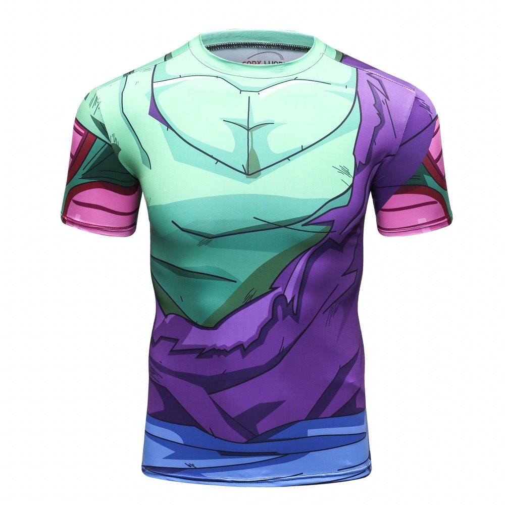 Cody Lundin Clothing Summer Style Gym Fitness Japan Comic 3D Dragon Ball Z Goku Piccolo Freeza Cell T Shirt Compression Wear