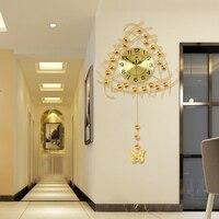 Luminousness часы гостиная настенные часы большие современные краткое моды немой украшения часы МАЯТНИК Часы кварцевые часы