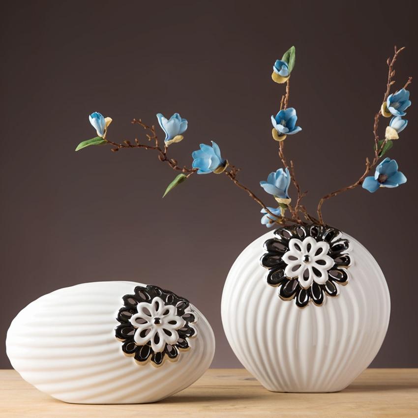 Europe Ceramic Vase minimalist Crafts traditional flower Vase fashion Home decoration Handicraft creative Wedding Gifts