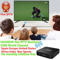 HAOSIHD T95M tv box android 7,1 один год подписки IP ТВ Media Player 1 ГБ/2 ГБ 8 ГБ 2,4 ГГц Wi-Fi Android 7,1 Декодер каналов кабельного телевидения