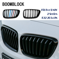 1set Auto Car Front Bumper Racing Grills Grilles For BMW 2 Series F22 F23 F87 M2 220i 228i M235i M240i M Performance Accessories