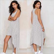 2016 Summer New font b Maternity b font Dresses Irregular Vest Dress Gray Casual Cotton Pregnancy