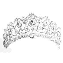 Crystal Rhinestone Tiara Hair Band Women Princess Crown Headband Jewelry Bridal Accessories