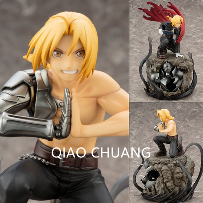Anime Fullmetal Alchemist Auto Mail Edward Elric Regular Version Deluxe Edition PVC Action Figure Collectible Model Toy G199 new hot 22cm fullmetal alchemist edward elric action figure toys collection doll christmas gift no box 2 0