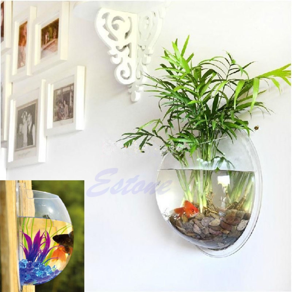 Fish for aquarium online - Pot Wall Hanging Mount Bubble Aquarium Bowl Home Decoration Fish Tank Aquarium Jj2834 China