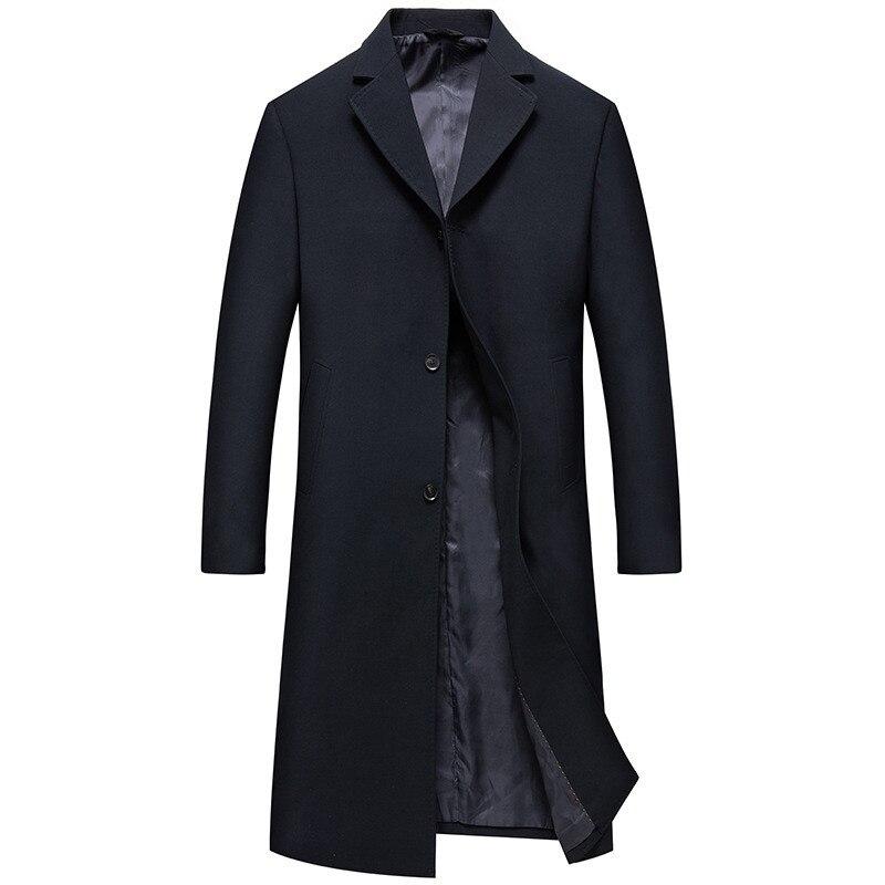 2018 automne Long style trench manteau hommes mode affaires décontracté coupe vent hommes de haute qualité manteaux hommes slim fit vestes - 6