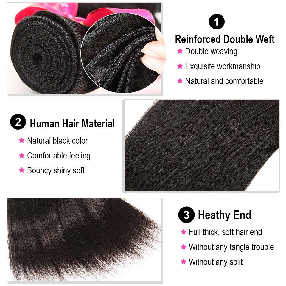 AliPearl Hair Straight Human Hair 3 Bundles With 5x5 Closure Brazilian Hair Weave Bundles Natural Color AliPearl Hair Straight Human Hair 3 Bundles With 5x5 Closure Brazilian Hair Weave Bundles Natural Color Remy Hair Extension