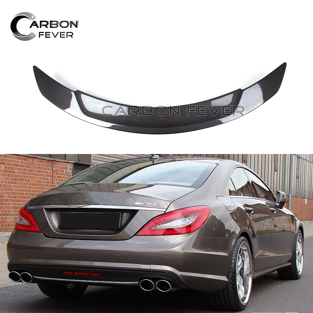 RT CF Spoilers For Mercedez CLS W218 Rear Trunk Spoiler Carbon Fiber 2012 2018 CLS280 CLS300