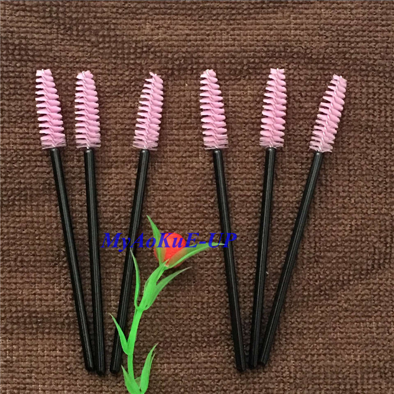 Hot sale Women Mini Eyelash Brush For Eyelash Extension Good Quality Mascara Applicator Wands 200 Pieces/Lot 1pcs lot j112y imitation of brass wire brush for cleaning and polishing wooden brush diy using high quality on sale