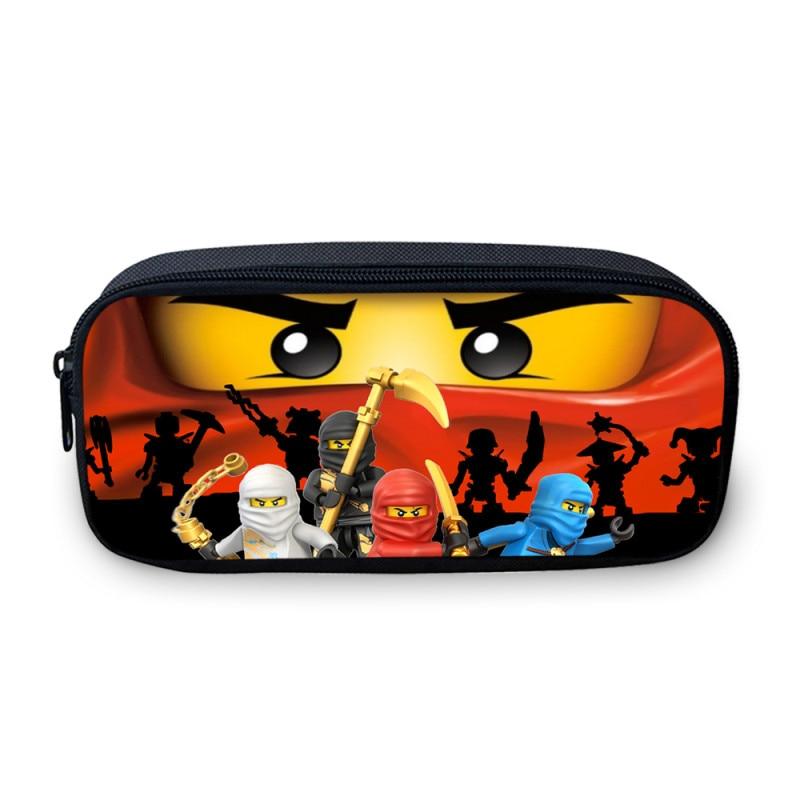 2018 New LEGO Ninjago Kids Cosmetic Bag Cartoon Children School Cosmetic Case Girls Canvas Pen Pouch Boys Stationery Holder