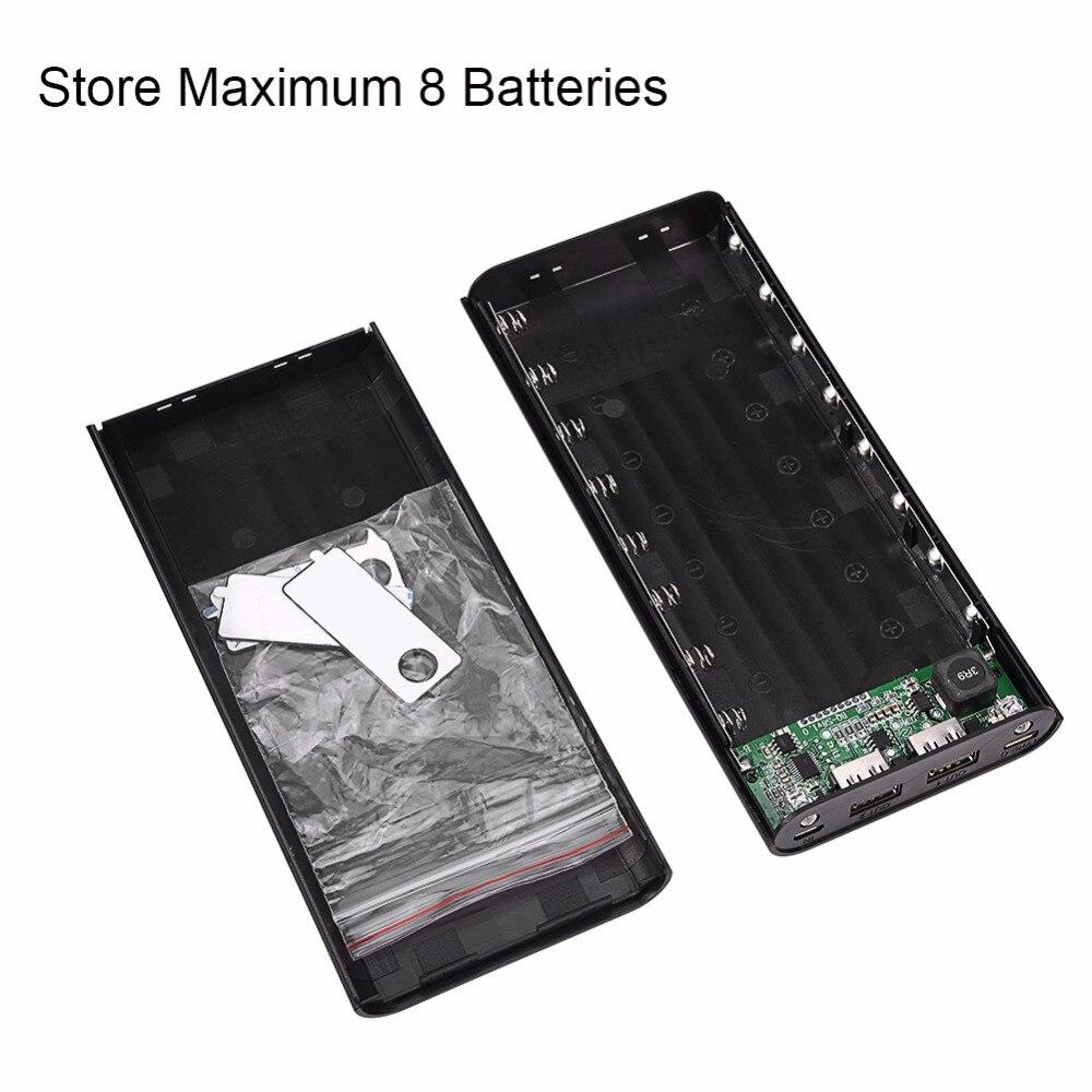 20000 mAh Double USB Power Bank Etui DIY Kit Chargeur de Batterie w/LCD Type-C & Micro USB Entrée