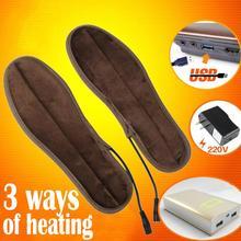 Alloet USB suszarka do butów elektryczny wkładki do butów zima utrzymać ciepłe podgrzewane wkładki do butów Boot mężczyźni kobiety suszarka do butów tanie tanio Shoe Dryer 5-6V