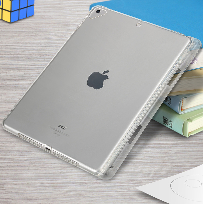 Tablet Case For New iPad Pro 12.9 Clear Crystal Transparent Soft TPU With Pen Holder Case For iPad Pro 12.9 inch 2018 Back Cover (3)