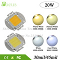 2Pcs/lot High Power LED Chip 20W Natural Cool Warm White Floodlight Integration SMD Diode COB For 20 Watt Light Beads Free Ship