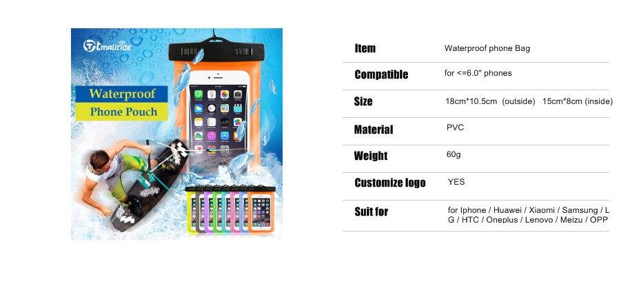 Tmalltide Uniwersalny Telefon Torby Etui z Paskiem Wodoodporne Przypadkach 5S Pokrowce na iPhone 6 6 S 7 Plus Skrzynki Pokrywa 2