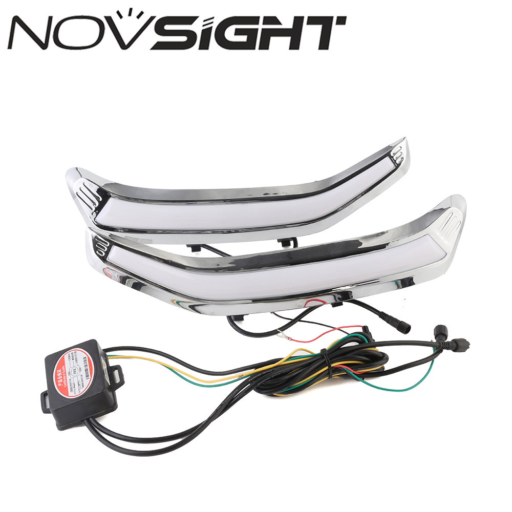 NOVSIGHT Car LED Daytime Running Light Driving Lamp For Subaru Forester 2013-2015 Day Light Turn Signal Free Shipping drl for chevrolet captiva 2013 2016 daytime running lights double color led day driving light with lamp door free shipping