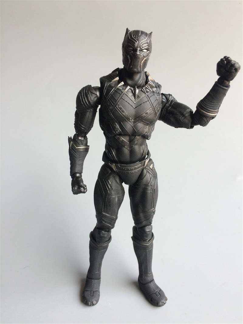 WVW 17CM The Avengers Movie Hero Ant Man Black Panther Play Arts Model PVC Toy Action Figure Decoration For Collection Gift liss david black panther the man without fear volume 1
