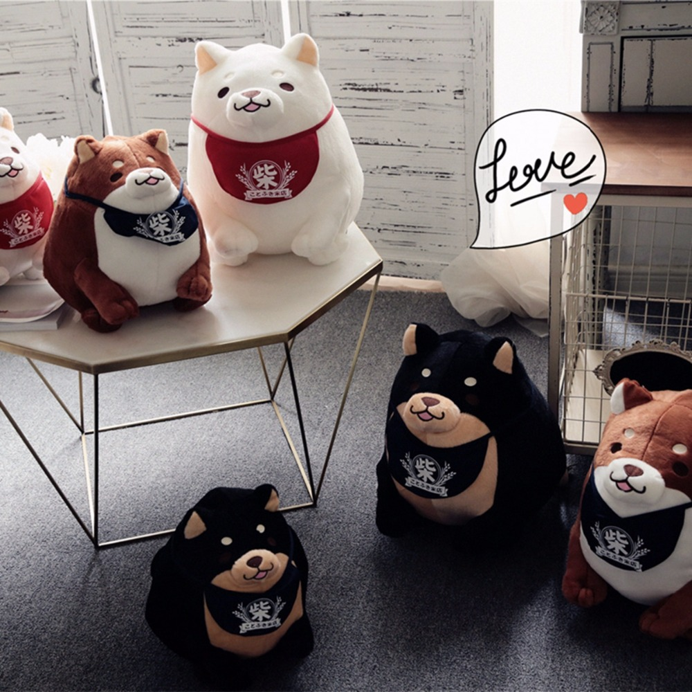 Creative Akita dog shiba inu Plush toys Imitation dog doll Cartoon birthday gift 28cm