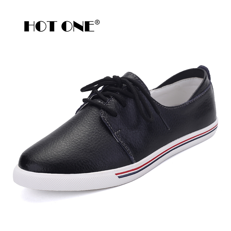 Women Flats Shoes 2017 Spring Brand Women Lace Up Leather Casual Shoes Women New Fashion White Shoes for Ladies Flat Shoes F3168 casio lcw m500td 1a