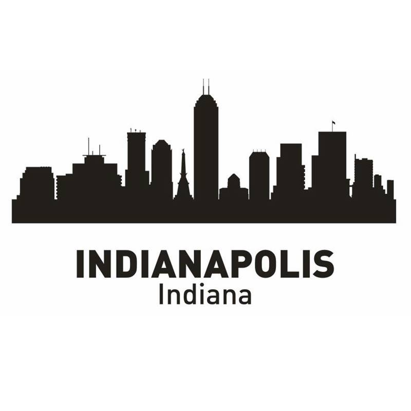 INDIANAPOLIS City Decal Landmark Skyline Wall Stickers