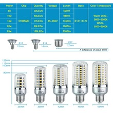 Celohliníková Corn LED žiarovka 5736 SMD LongLife (15 variant)