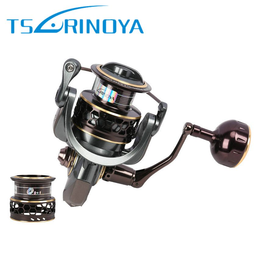 Tsurinoya Jaguar 4000 Spinning Fishing Reel Double Spool 9+1BB 5.2:1 Drag 7kg Ultra-light Wheel Carretilhas Rocky Fishing Reels tsurinoya jaguar 4000 spinning fishing reel double spools 9 1bb 5 2 1 max drag 7kg wheel moulinet carretilhas de pesca coil