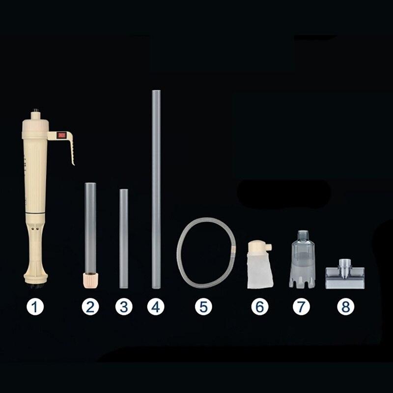 Аквариум смены воды насос Электрический (без батареи) Авто дом вакуумный Fish Tank Гравий накачки фильтра для очистки Шайба