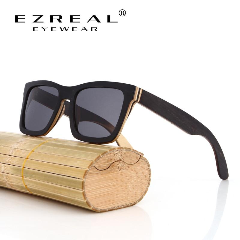 EZREAL TOP Black Wooden Sunglasses Handms