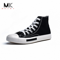 c7dfdf8130 MEIKI Spring Autumn Summer New Brand Male Casual Canvas Shoes High top  Breathable Tenis Fashion Men Sneaker Flats #1932