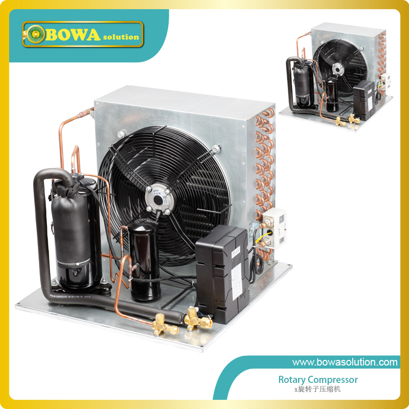 1.5HP R404a Low Temperature Condensing Unit with air cooled HEX is great choice for walk-in cold rooms or portable containers