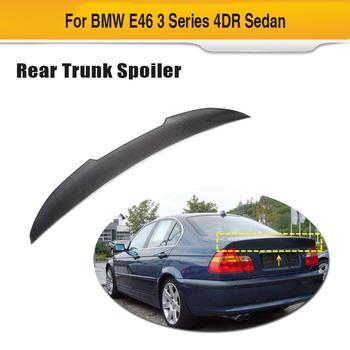 Für E46 Carbon Faser Auto Stamm Spoiler Flügel für BMW E46 Basis Limousine 4-Tür 1998-2005 Hinten flügel Spoiler Boot Deckel
