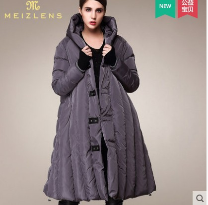 Thicken Loose Plus Size XXXL 4XL 5XL 6XL 7XL 90% White Duck   Down   Women Winter   Coats   Windbreaker Women Cloak Jackets