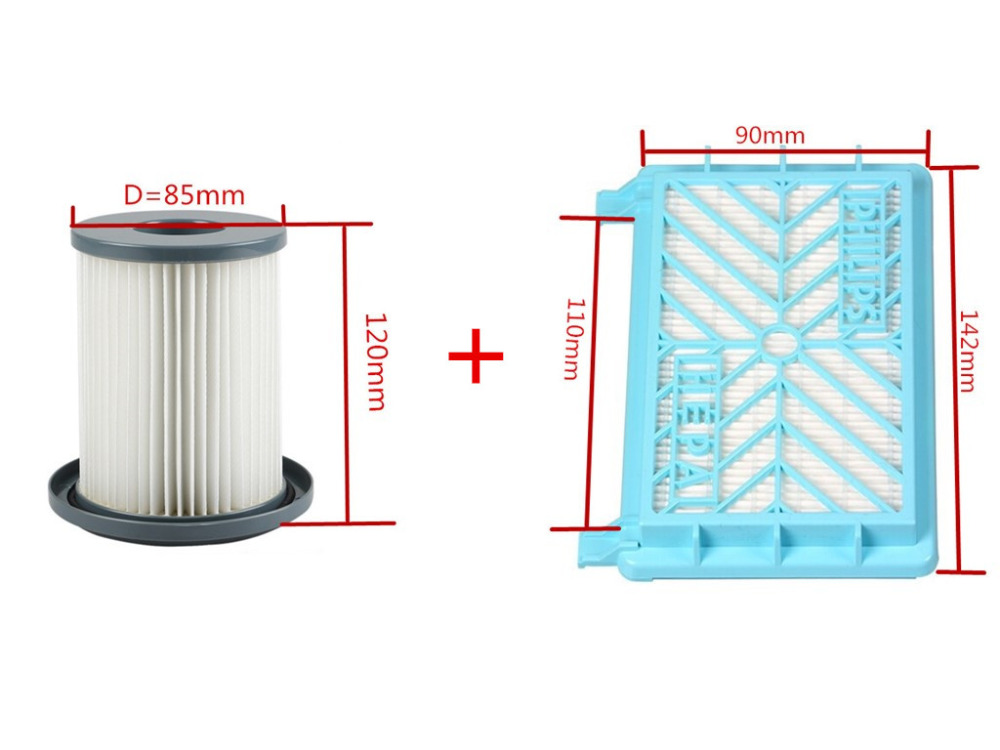 2pcs Vacuum Cleaner Accessories Cleaner Wind the HEPA+Filter Element For Philips FC8712 FC8714 FC8716 FC8720 FC8722 HEPA Filter