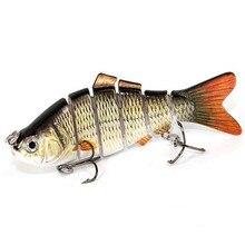 Лидер продаж 6 сегментов рыболовные приманки 10 см x 9 см Цвета 3D глаза Искусственные воблеры искусственная приманка жесткая Реалистичная наживка